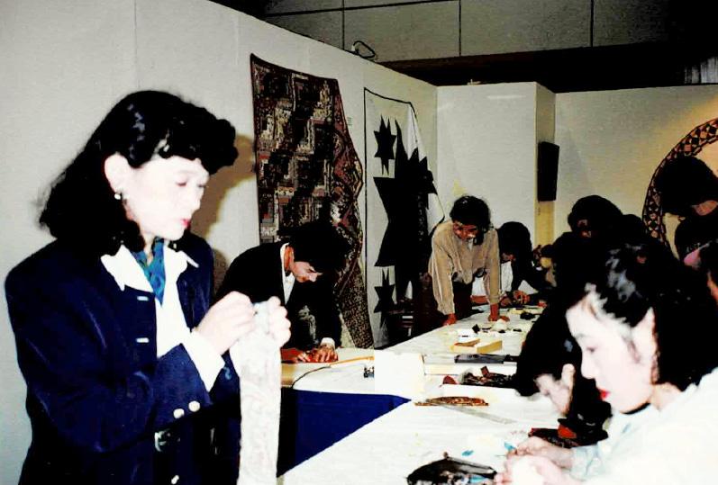 国民文化祭石川・92で開催された 手作りフェアでの藤島しずえの写真