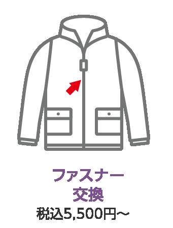 ファスナー交換 税込み5,500円~